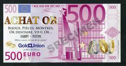 Flyer Publicitaire Repésentant Un Billet De 500 Euros - 500 Euro - 500€ - Fictif Bank Note - EURO