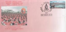 India  2007  Hinduism  Dr. Shri Shri  Shivakumara SWamiji  Tumkur  Special Cover   # 08145  D  Inde Indien - Hinduism