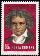 ROMANIA - Scott #2215 Ludwig Van Beethoven, Composeur / Used Stamp - 1948-.... Republics