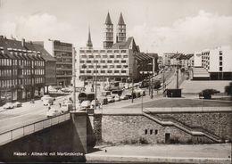 D-34117 Kassel - Altmarkt Mit Martinskirche - Cars - Alfa Cabrio ? - Opel - VW - Tram - Straßenbahn - Kassel