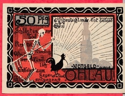 Allemagne 1 Notgeld De 50 Pfenning Stadt Ohlau ( RARE) Dans L 'état  N °2907 - [ 3] 1918-1933 : République De Weimar