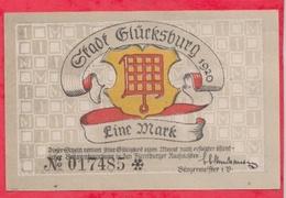 Allemagne 1 Notgeld De 1 Mark Stadt Glücksburg ( RARE) Dans L 'état  N °2915 - [ 3] 1918-1933 : République De Weimar