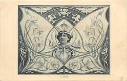 -ref-A971- Fleurs - Fleur - Iris - Montage Photographique - Surrealisme - Carte Bon Etat - - Fleurs