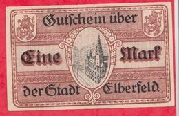 Allemagne 1 Notgeld De 1 Mark Stadt Elberfeld (RARE) Dans L 'état  N °2921 - [ 3] 1918-1933 : République De Weimar