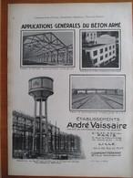 1926 - Construction Chateau D'Eau  PEUGEOT Sochaux & Chocolaterie De ROYAT    - Page Originale ARCHITECTURE INDUSTRIELLE - Architecture