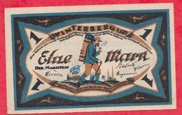 Allemagne 1 Notgeld De 1 Mark Stadt  Winterberg (RARE) Dans L 'état  N °2925 - [ 3] 1918-1933 : République De Weimar