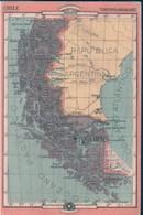 POSTAL MAPA CHILE - PROVINCIA DE MAGALLANES 25 - REVERSO, LIMITES - EXTENSION - DIVISION - PRODUCTOS ... - Chile