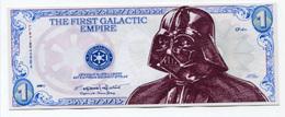 """Billet De Banque Fantaisie """"One Credit"""" Star Wars Banknote - Billet """"La Guerre Des Etoiles"""" Dark Vador - Darth Vader - United States Of America"""