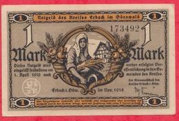 Allemagne 1 Notgeld De 1 Mark Stadt Erbach In Oberwald (RARE) Dans L 'état  N °2928 - [ 3] 1918-1933 : République De Weimar