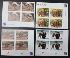 COTE D'IVOIRE IVORY COAST 1999 - IMPERF BLOCKS 4 ND  - ANIMALS APES MONKEYS SINGES ELEPHANTS PHILEXAFRIQUE CHIMPANZE - Chimpanzés