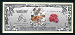 Beau Billet Fantaisie 1000000 Dollars - Monnaie De Mariage - United States Banknote - Etats-Unis