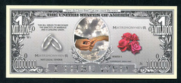 Beau Billet Fantaisie 1000000 Dollars - Monnaie De Mariage - United States Banknote - United States Of America