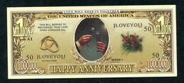 Beau Billet Fantaisie 1000000 Dollars - Monnaie D'anniversaire De Mariage - United States Banknote - Etats-Unis