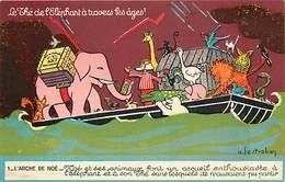 -ref-A967- Publicite - Thé De L Elephant - L Arche De Noé N° 1 - Thés - Illustateur A. Lestrohan - Illustrateurs - - Publicité