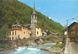 77/FG/18 - AOSTA - FONTAINEMORE: Panorama Con Chiesa Di S. Antonio E Ponte Medioevale - Italia