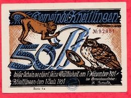 Allemagne 1 Notgeld De 50 Pfenning Stadt Kneitlingen Dans L 'état N °2944 - [ 3] 1918-1933 : République De Weimar
