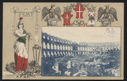 Austro-Hungarian Monarchy - (now Croatia) - POLA / PULA -The Pula Arena- VINTAGE POSTCARD (APAT#30) - Cartes Postales