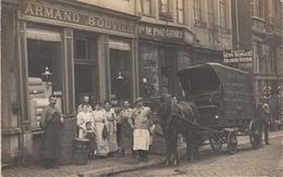 Attelage Commercial Devant Commerces - à Situer - Carte-photo - Orte