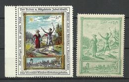 Germany Ca 1910 Wormser Kinder-Erholungsheim Kurort For Children Licht & Luft Vignetten Werbemarken MNH - Cinderellas