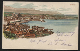 Austro-Hungarian Monarchy - (now Croatia) - SPLIT - VINTAGE POSTCARD, 1901. - (APAT#10) - Cartes Postales