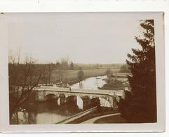 Argent Sur Sauldre Photo Veritable Années 1900 Pont Riviere En Crue . Aucune Construction. Coté Grands Prés Format 18/13 - Argent-sur-Sauldre