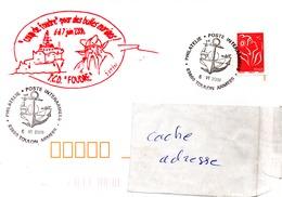 TCD FOUDRE Cachet Coup De Foudre Pour Des Bulles Marines Obl. Toulon Armées 06/06/08 - Marcophilie (Lettres)