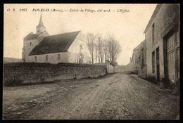 51 HOURGES (Marne) - Entrée Du Village, Côté Nord, L'Eglise - France