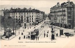 Genève.Rond Point De Plainpalais Et Rue De Carouge. - GE Ginevra