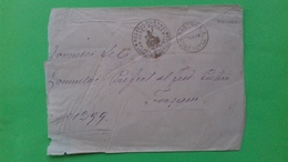 Romania, Roumanie, Rumaenien - Putna Focsani Scrisoare Plic Stampila Prefilatelie Obliterata 1908 - Romania