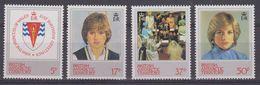 British Antarctic Territory (BAT) 1982 21st Birthday Of Princess Of  Wales 4v ** Mnh (41650) - Ongebruikt