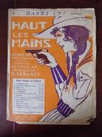 """Partition """" Haut Les Mains ( Hands Up ! ) - Demaret - Ill. J. Van Caulaert - Partitions Musicales Anciennes"""