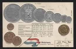 NETHERLANDS - Numismatic Postcard - Set Of Coins - Embossed (APAT#120) - Netherlands