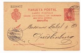 Targeta Postal 1904 Barcelone Barcelona España Crédit Lyonnais Quedlinbourg Deutschland Banque Bank Zabel - Postwaardestukken