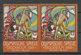 SCHWEDEN Sweden 1912 Olympic Games Stockholm Advertising Werbung Pair (*) In Deutsche Sprache In German - Sommer 1912: Stockholm