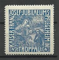 POLAND Deutschland Ca 1910 Keiser Franz Joseph Jubiläums Pflegeheim Troppau Vignette Werbemarke * - Erinnofilie