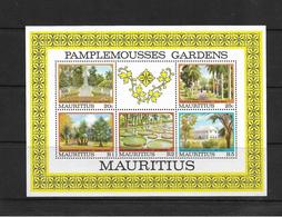 Mauritius 1980 Pamplemousses Botanical Gardens Minisheet MNH (7340) - Maurice (1968-...)