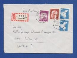 BERLIN R-Brief, Einschreiben MiF Schiffsbau, Naverkehrs-Triebzug, Heinemann1977 - Briefe U. Dokumente
