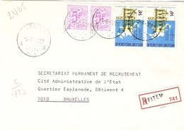 Belgique 1978 - Lettre Recommandée De VELTEM - Brabant Flamand - Cob 1756/1886 X 2 - Belgique