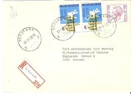 Belgique 1978 - Lettre Recommandée De SERSKAMP - Flandre Orientale - Cob 1584/1886 X 2 - Belgique