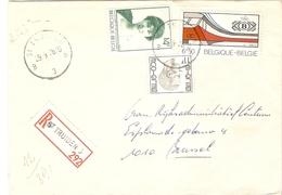 Belgique 1976 - Lettre Recommandée De ST TRUIDEN - Province Du Limbourg - Cob 1808/1822/1825 - Belgique