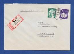 BERLIN R-Brief, Einschreiben MiF Rettungs-Hubschrauber MBB BO 105, 140Pfg Heinemann 1977 - Briefe U. Dokumente