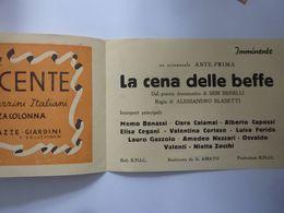 """Pieghevole """"PROGRAMMA DEL NUOVO CINEMA ALLA QUIRINETTA Gennaio 1942 - Programmi"""