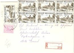 Belgique 1977 - Lettre Recommandée De ST STEVENS WOLUWE - Vlaams Brabant - Cob 1545/1834 X 7 - Belgique
