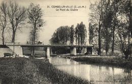 1 Cpa Combs La Ville - Le Pont Du Diable - Combs La Ville