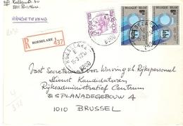 Belgique 1977 - Lettre Recommandée De ROESELARE - Roulers -  Flandre Occidentale - Cob 1748/1842 X 2 - Belgique