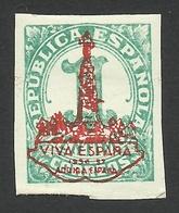 Spain, Zaragoza 1 C. 1937, Mi # 24, MH - Nationalist Issues
