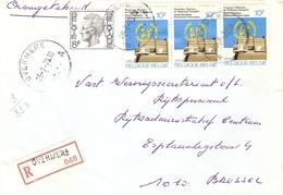 Belgique 1979 - Lettre Recommandée De OVERMERE - Flandre Orientale - Cob 1647/1885 X 3 - Belgique