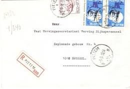 Belgique 1978 - Lettre Recommandée De PITTEM - Flandre Occidentale - Cob 1584/1887 X 2 - Belgique
