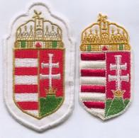 Hungary -  Blazon, Coat Of Arms, Patch, 2 Pcs - Ecussons Tissu