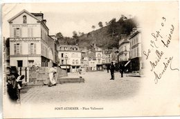 27. Pont Audemer. Place Vallemont. Coin Haut Gauche Abimé - Pont Audemer